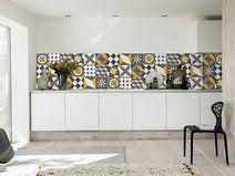 Decorazione vinile piastrelle geometrico vintage piastrelle e