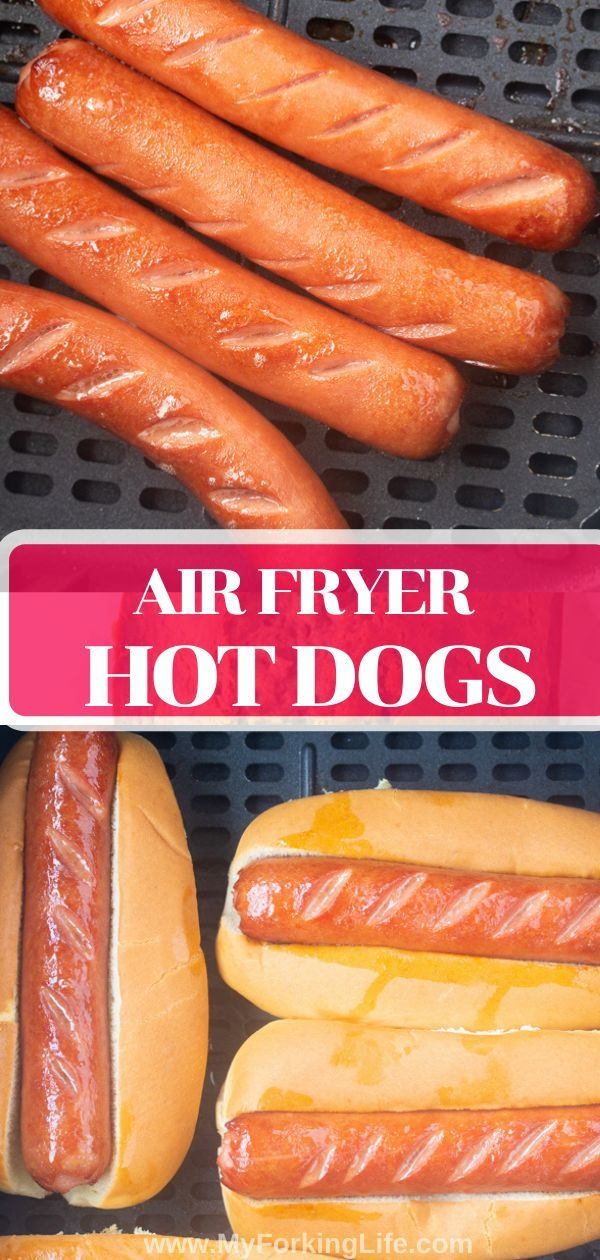 Deliciouls Air Fryer Hot Dogs #airfryerrecipes