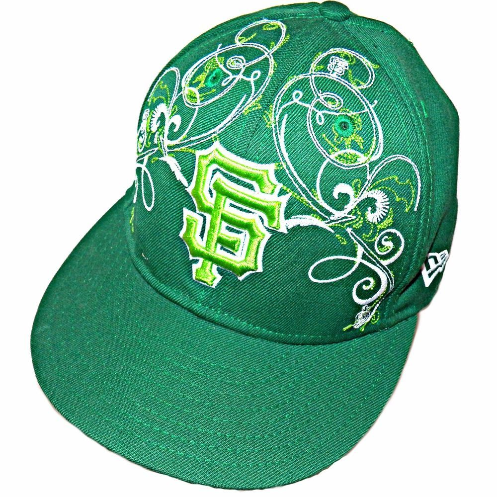b69a5169bfc2c New Era 59Fifty San Francisco SF Giants MLB Irish Green Baseball Hat Cap 7-3