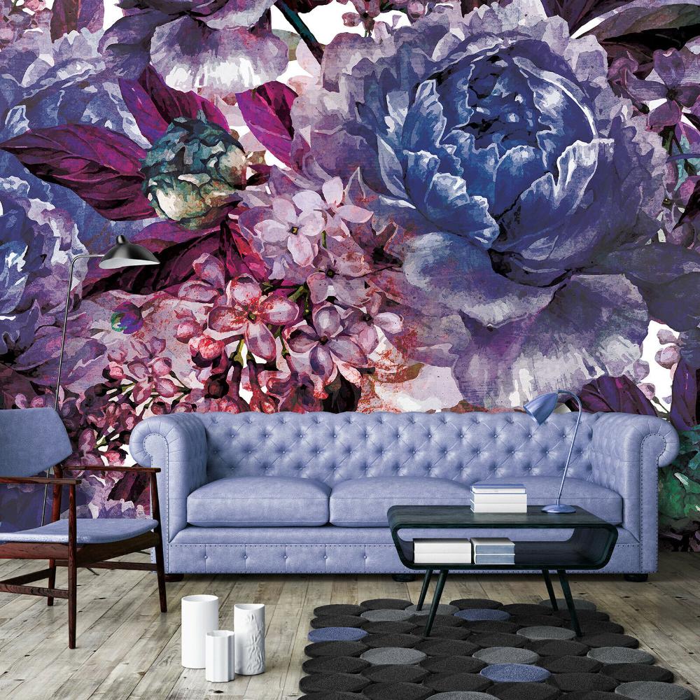 Flowers Art Decoration Photography Wall Mural Wallpaper Easy Install Fleece 2019 Ebay Mural Wallpaper Photography Wall Flower Art