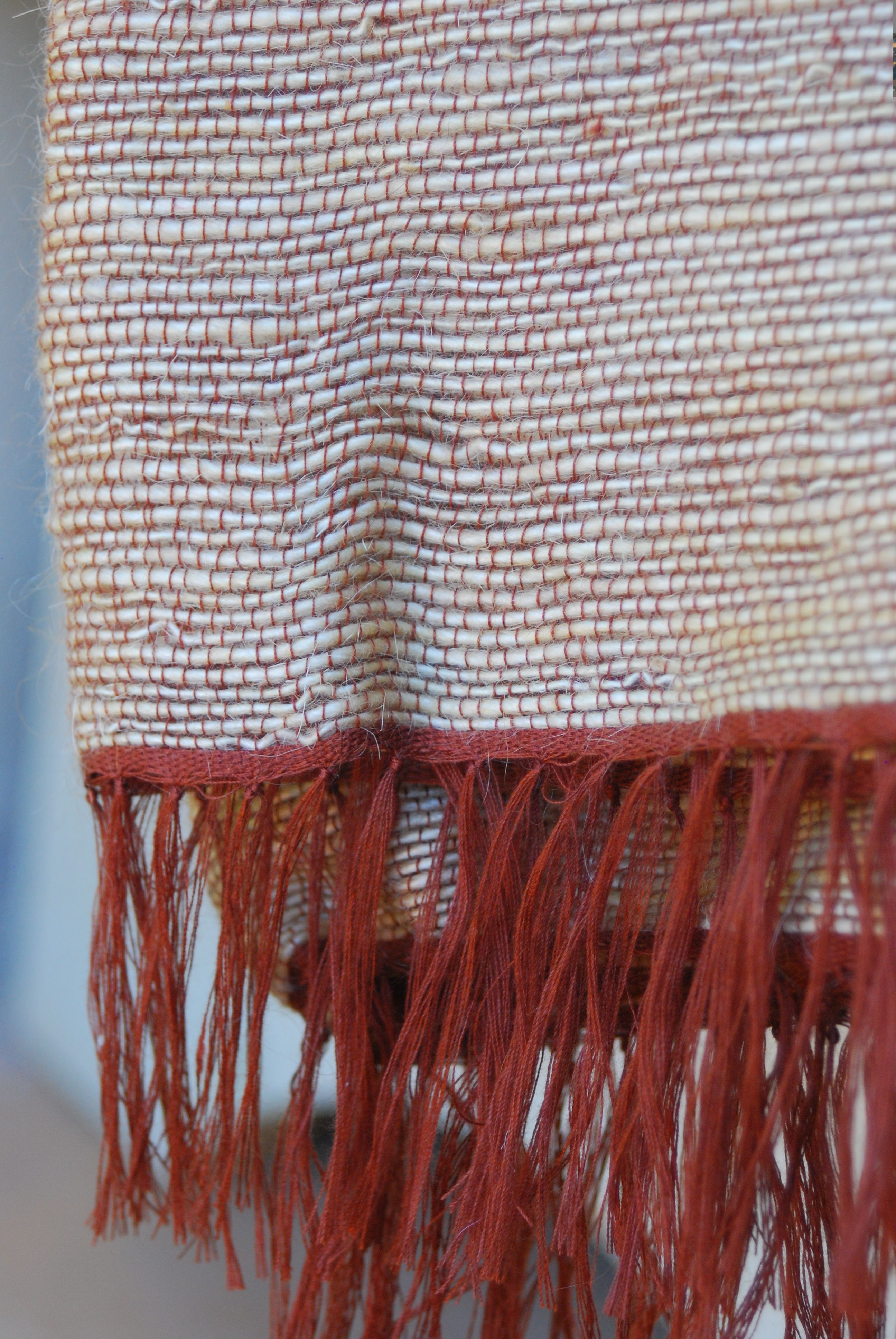 Wheat Coloured Mohair Blanket With Rust Warp Mohair Blanket Blanket Cushion Covers