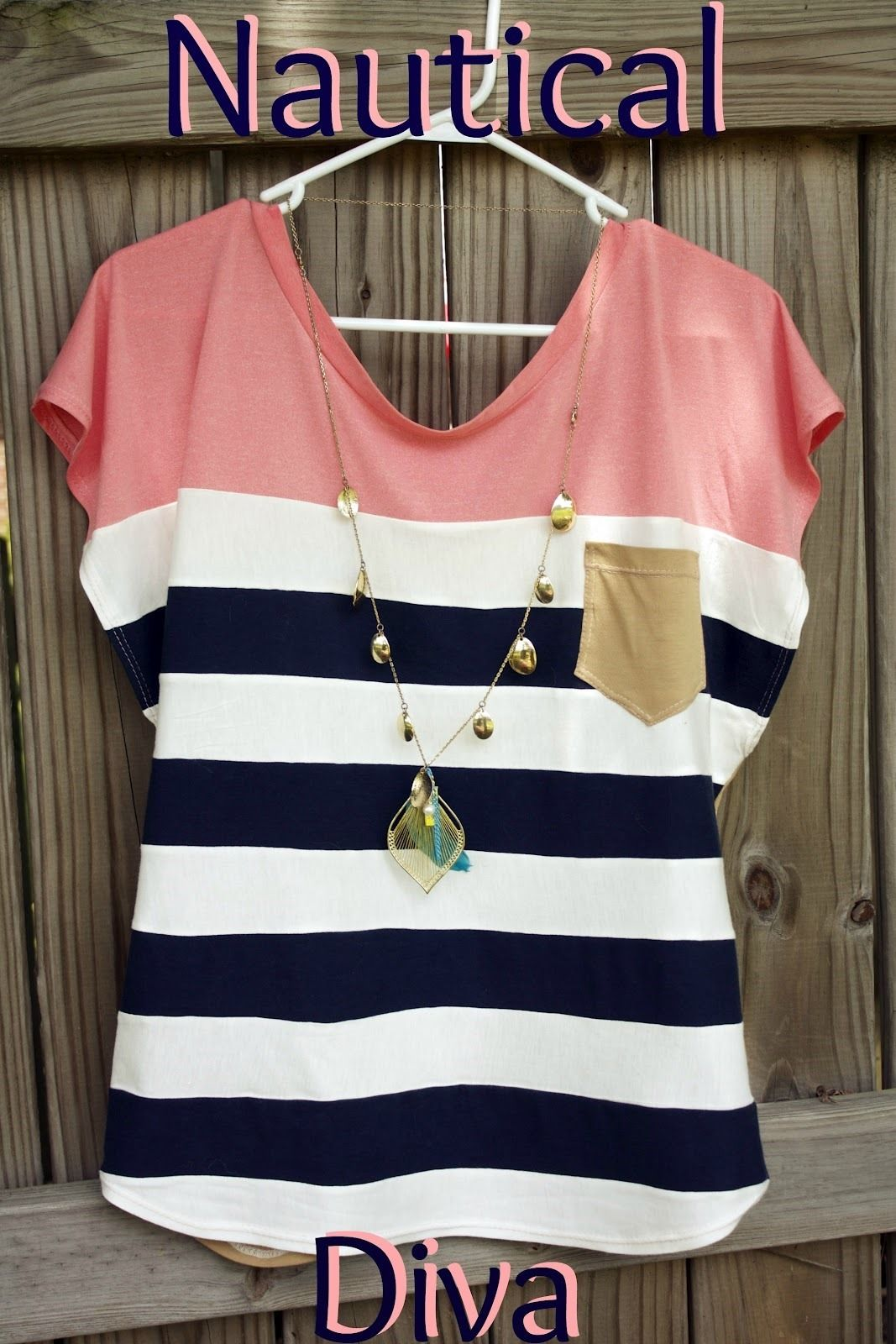 Trendy Nautical Womens Top Free Sewing Pattern | Sewing ...