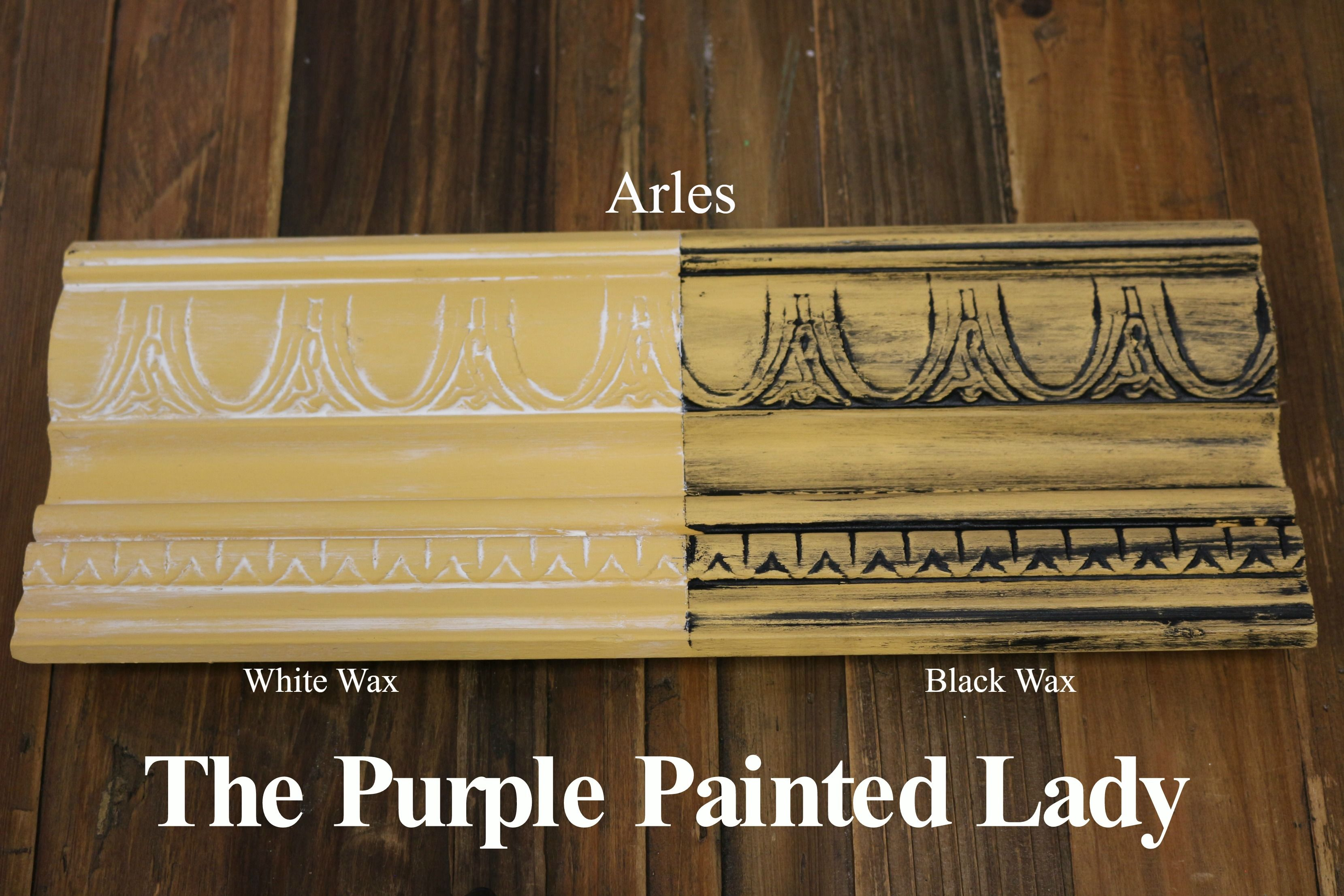 The Purple Painted Lady Two Coats Of Arles Chalk Paint By Annie Sloan Then One Coat Clear Wax Over Entire Board White On