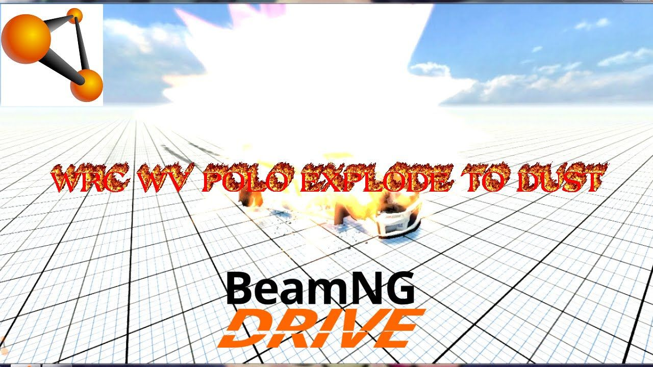 Beamng drive Wrc WV Polo explode to dust with propane tank