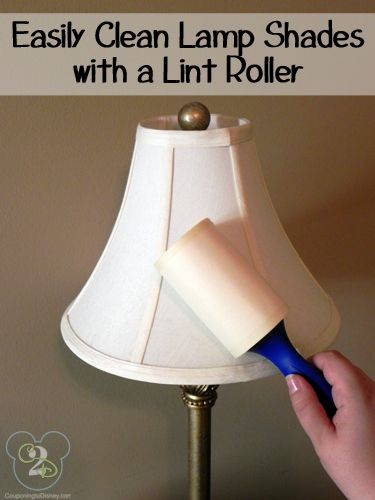 How To Clean Lamp Shades Pleasing Easily Clean Lamp Shades With A Lint Roller  Household Clean Freak Decorating Design