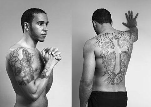 Los Tatuajes De Lewis Hamilton Hamilton Tattoos Lewis Hamilton Lewis
