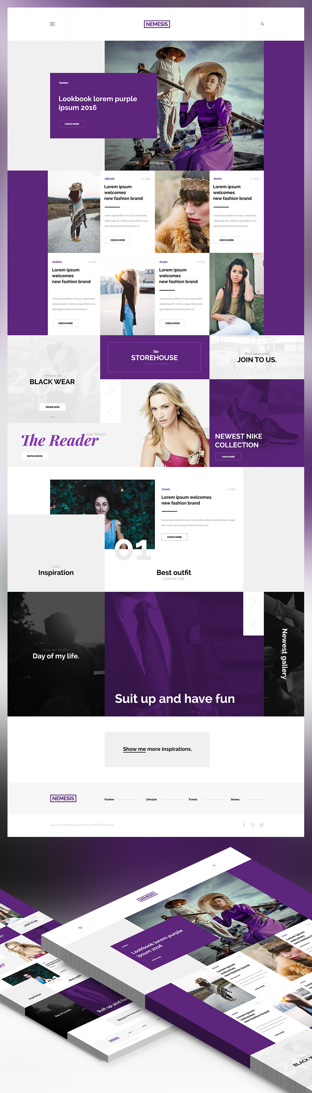 Blog Website Templates Nice Creative Fashion Magazine Blog Website Template Free Psd
