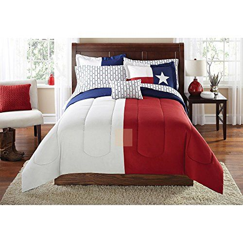 8pc Boys Flag Texas Themed Comforter Full Set Sports Des Blue Bedding Striped Bedding Reversible Bedding