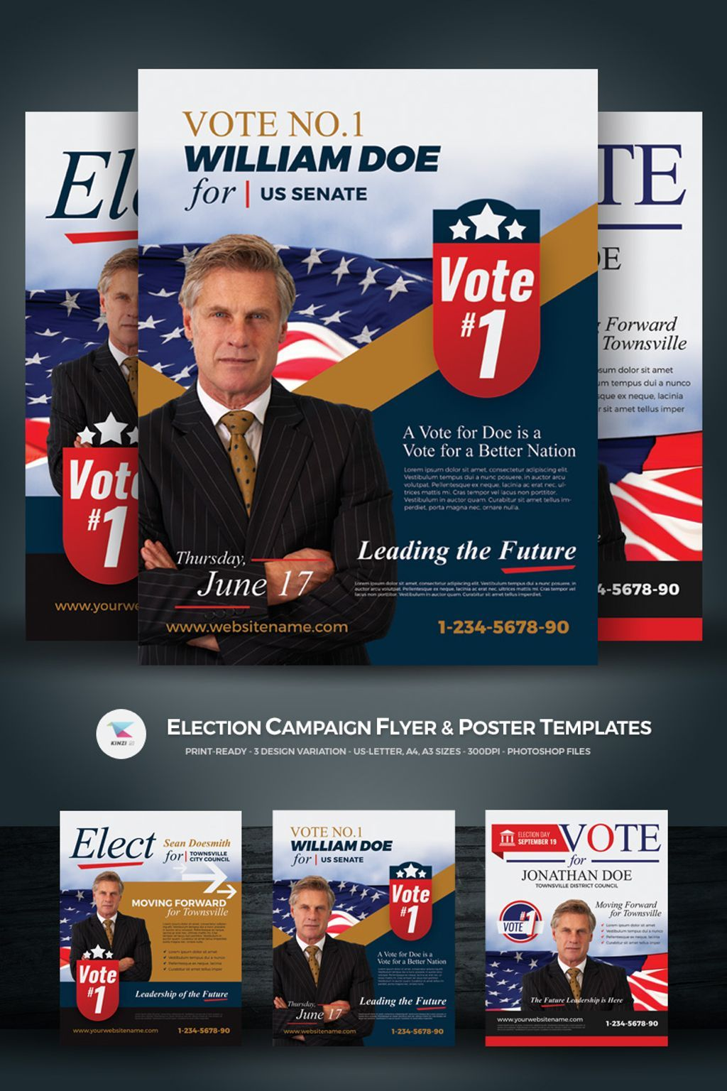 Election Campaign Flyer And Poster Psd Template Pinterest Psd