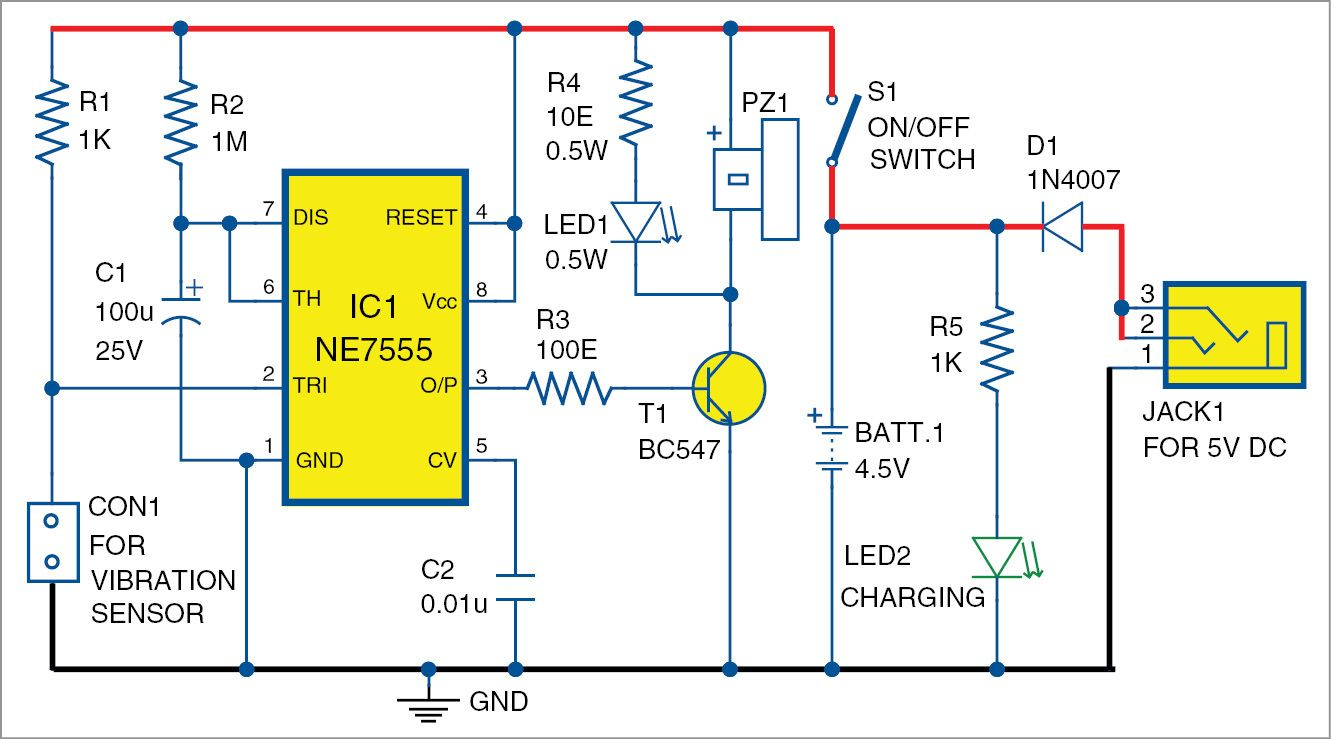 Simple Microphone Preamplifier By Bc547