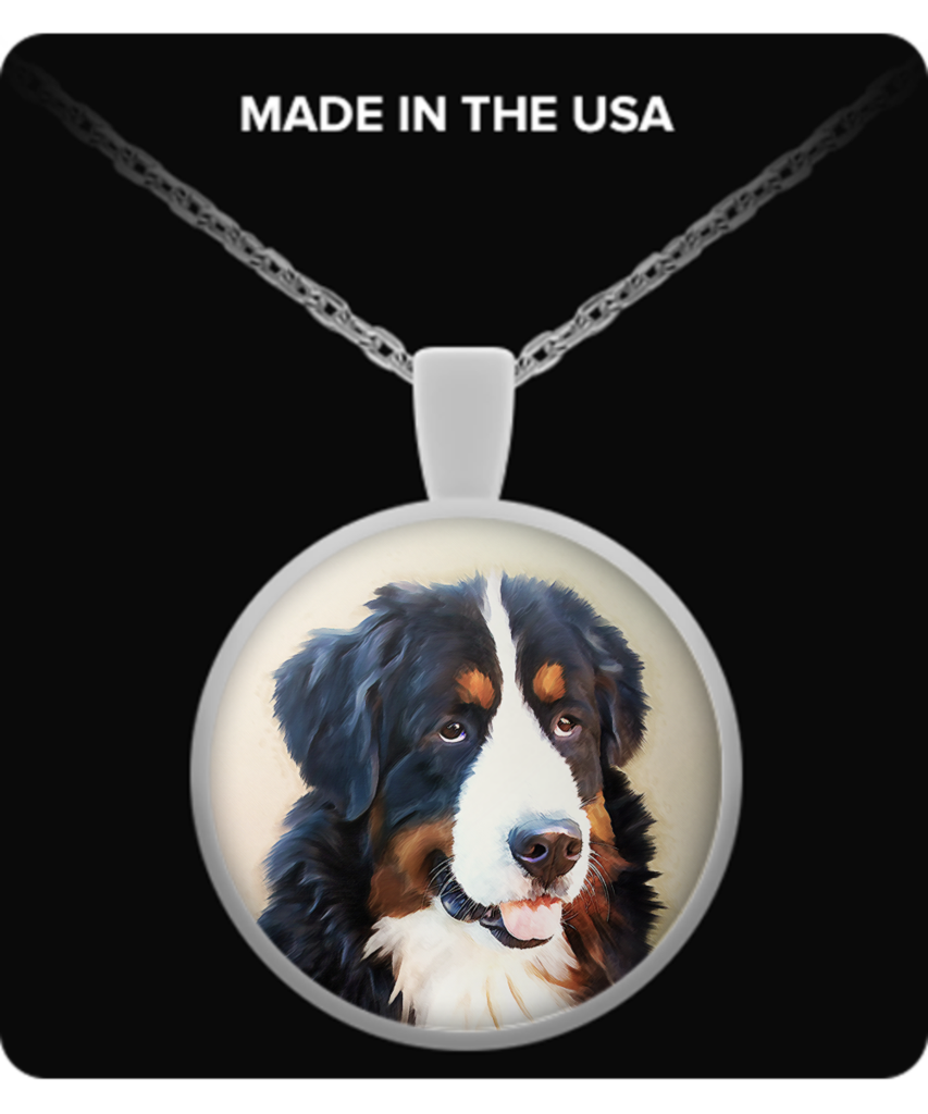 Bernese Mountain Dog - Round Necklace