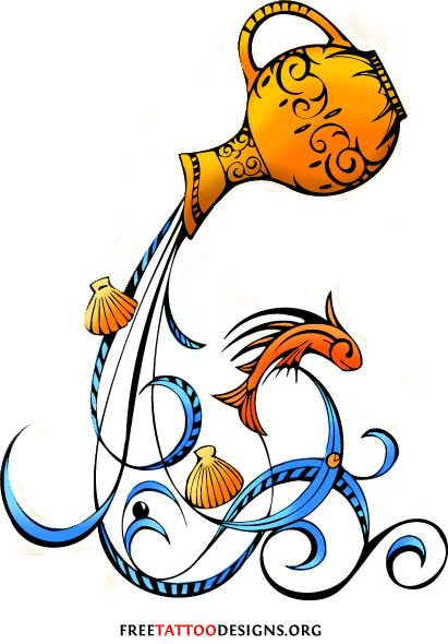 4013a32869f26 35 Cool Aquarius Tattoo Designs   Aquarius Sign Tattoos   Someday ...