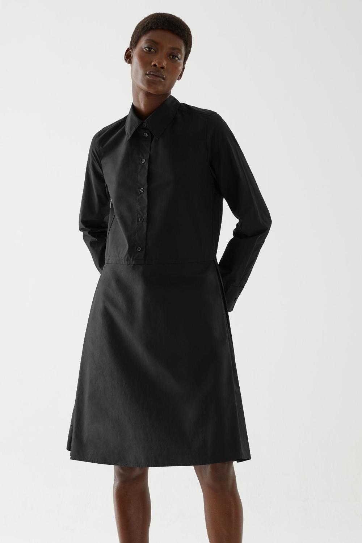 Pleated Cotton Shirt Dress Shirt Dress Cotton Shirt Dress Black Shirt Dress [ 1500 x 1000 Pixel ]