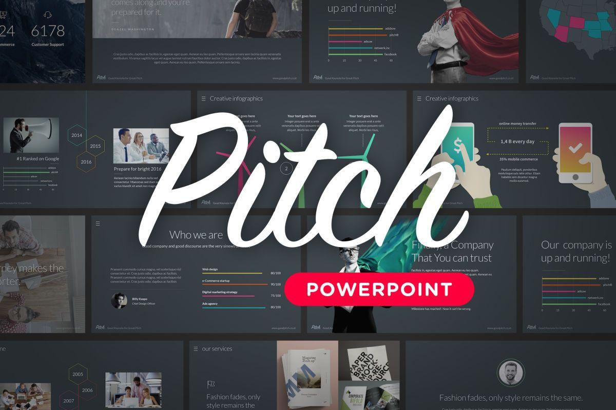 Template De Powerpoint Pitch Produtividade Slides Resolucoes
