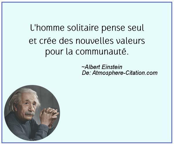 Image Result For Soyez Un Solitaire Citation Einstein Quotes