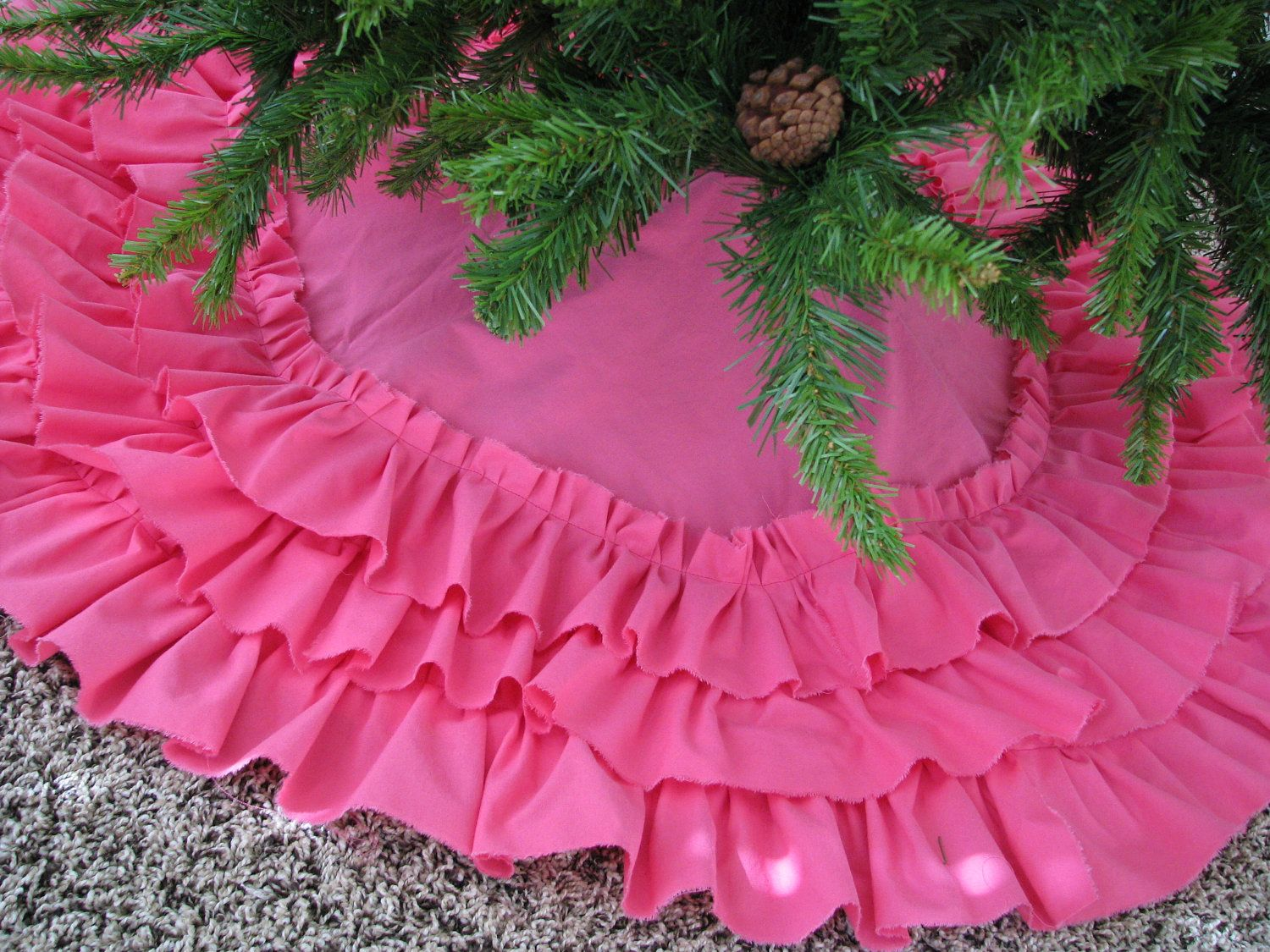 Pink Christmas Tree Skirt Ideas Including Hot Skirts As Well Green And Fun Snowflake