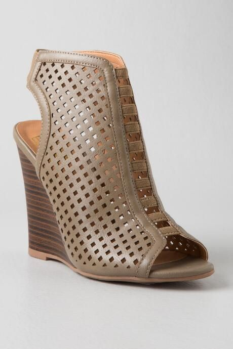75e17ca3f90e Piper Perforated Peep Toe Wedge | Shoes in 2019 | Shoes, Peep toe ...