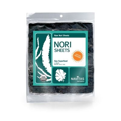 Nori sheets are great for any type of sushi roll or wrap. They are high in fiber, protein, antioxidants, vitamins, minerals and lignans.  They also contain an abundance of amino acids and are high in calcium and iron.
