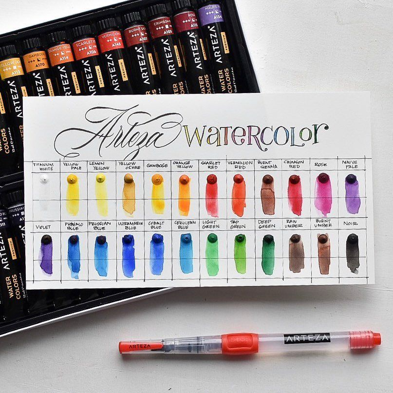 Watercolor Premium Artist Paint 12ml Tubes Set Of 24 Dry