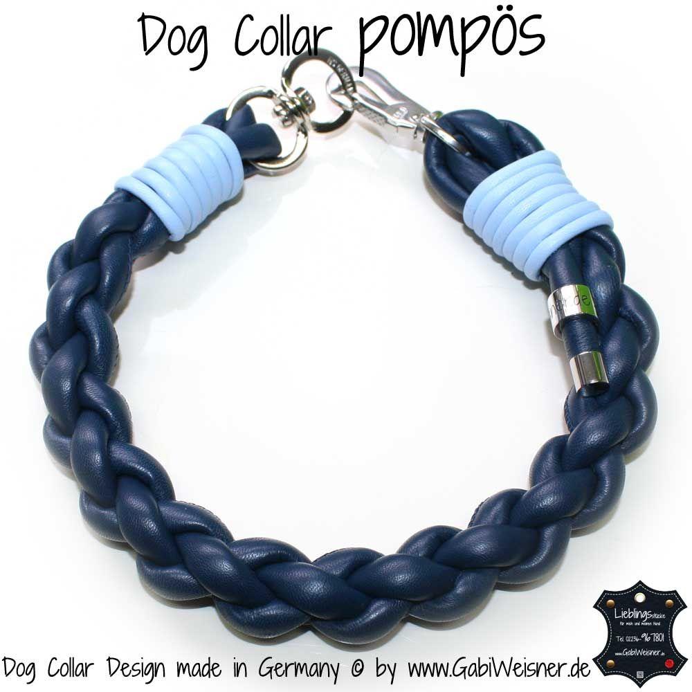 Dog Collar pompös Blau Hellblau