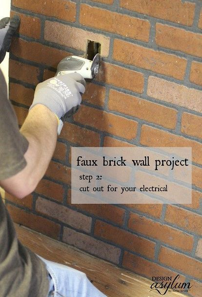 Diy Making Faux Brick Walls Look Old Concrete Masonry How To Painting Wall Decor