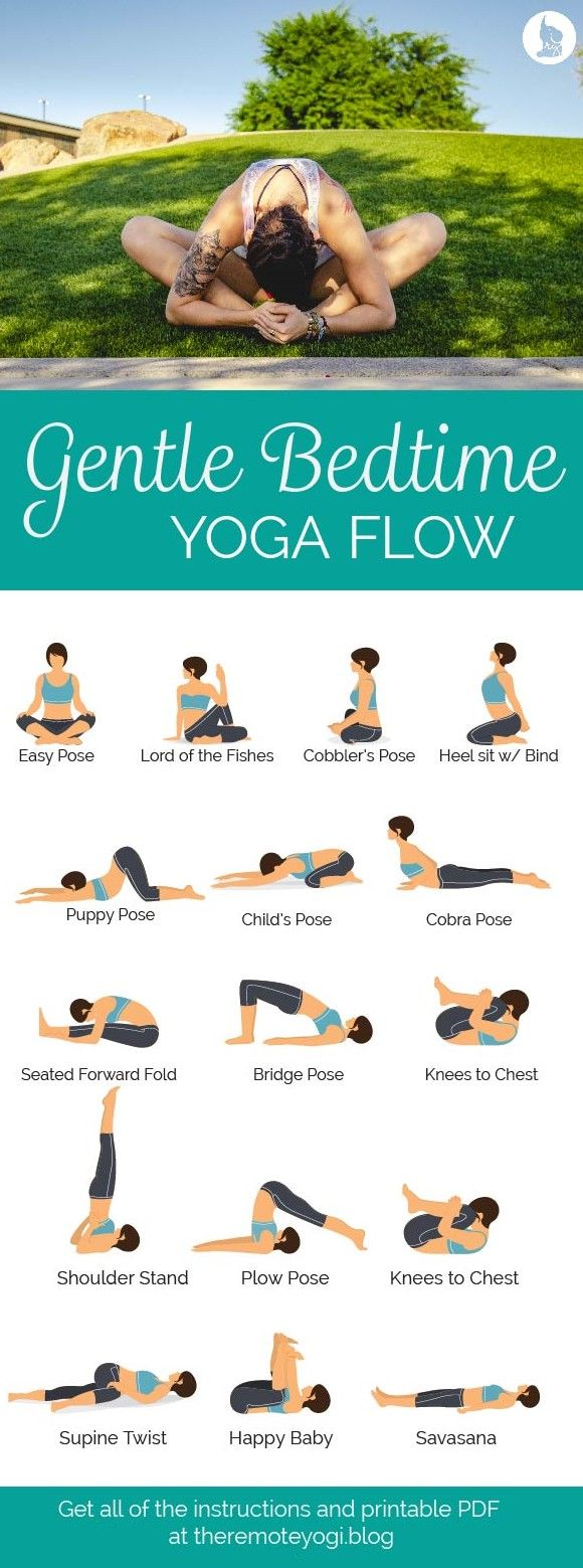Relaxing Bedtime Yoga – Free Printable PDF  Bedtime yoga, Night