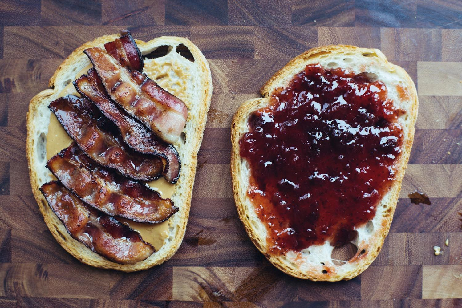 Make This Grilled Bacon Peanut Butter Jelly Tasting Table Peanut Butter Jelly Recipes Bacon On The Grill Peanut Butter Jelly Sandwich
