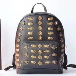 2303f306438 Gucci Animal Studs Leather Backpack 406370