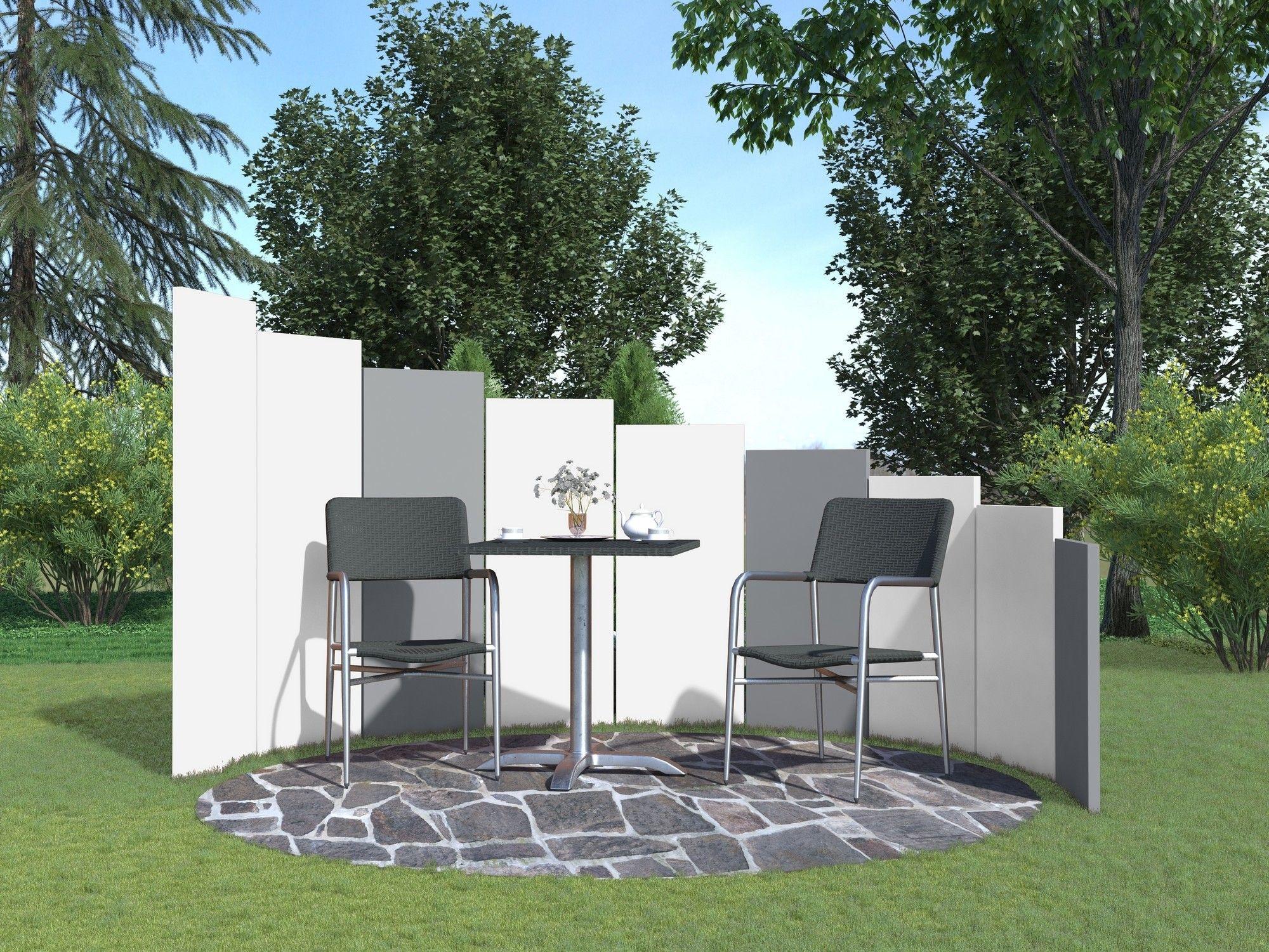 Kunststoff Designtafel Bayon Design Sichtschutz Sichtschutz In