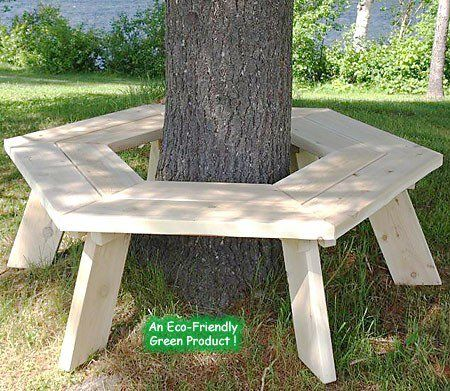 will help you make a tree bench in your garden and get to ...