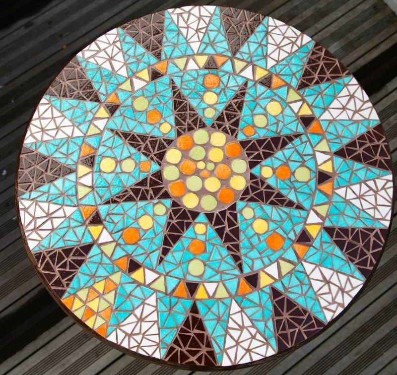 Ensemble Table Et Chaises De Jardin En Mosaique Turquoise