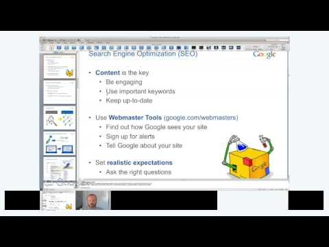 BizzyWeb Presents Google Tips and Tricks with Google: Buzz Builders Webinar Series