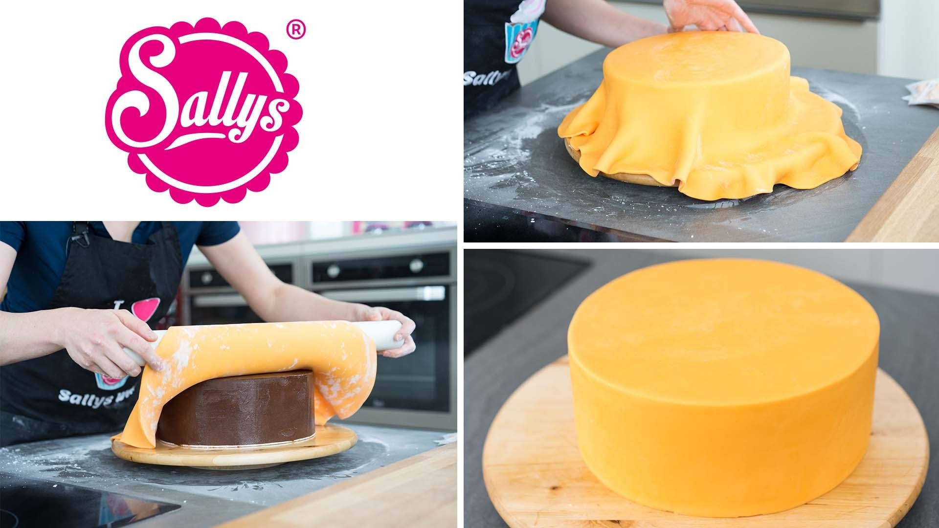 Fondanttorte überziehen - runde Torte mit Fondant eindecken / Tipps & Tricks / Sallys Basics #fondant