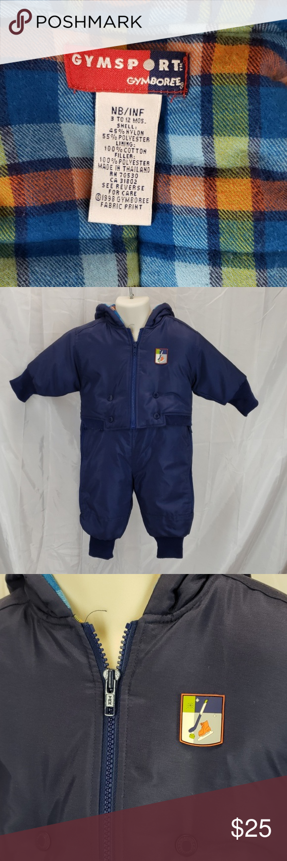 Gymboree snowsuit NB 3 TO 12 MOS snow coat Snow suit