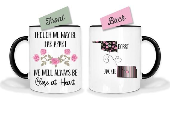 Long Distance Custom Mug, Best Friends Mug, Mother Daughter Mug, Personalized Friends Mug #custommugs