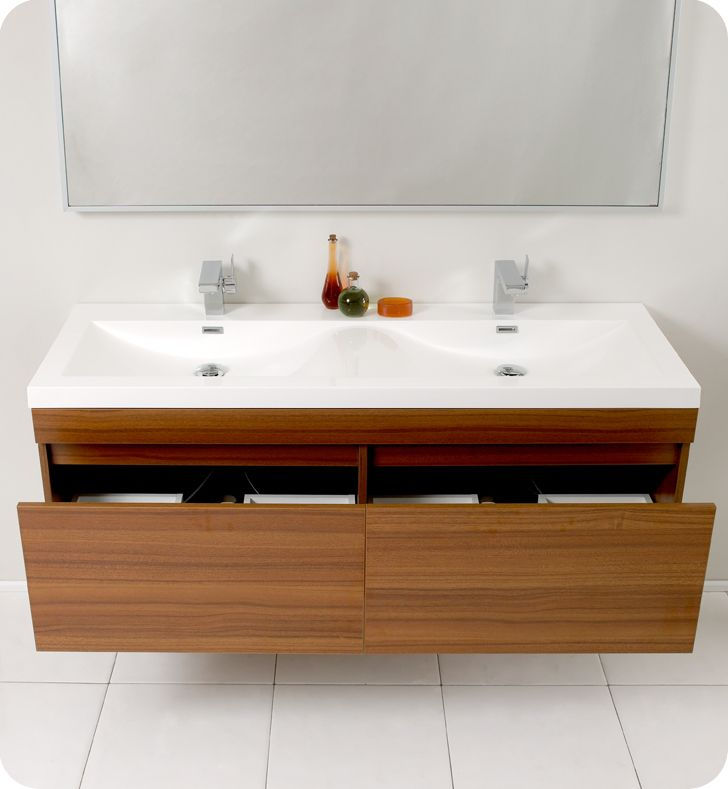 Fresca Largo Teak Modern Bathroom Cabinet Modern Bathroom