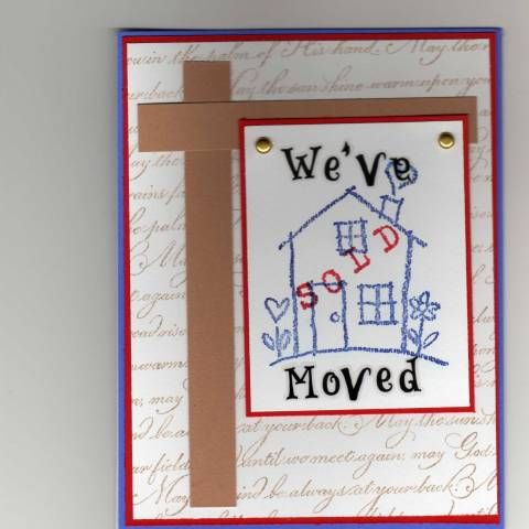 Weve Moved Using Stampin Up Heart And Home Retired Stamp Set
