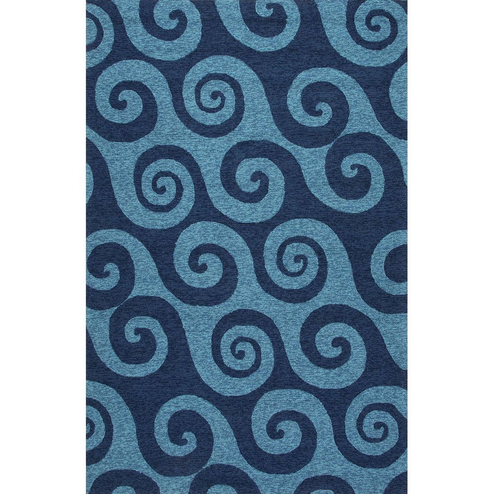 Handmade Abstract Pattern Blue Polypropylene Area Rug (7'6x9'6) - Overstock™ Shopping - Great Deals on 7x9 - 10x14 Rugs