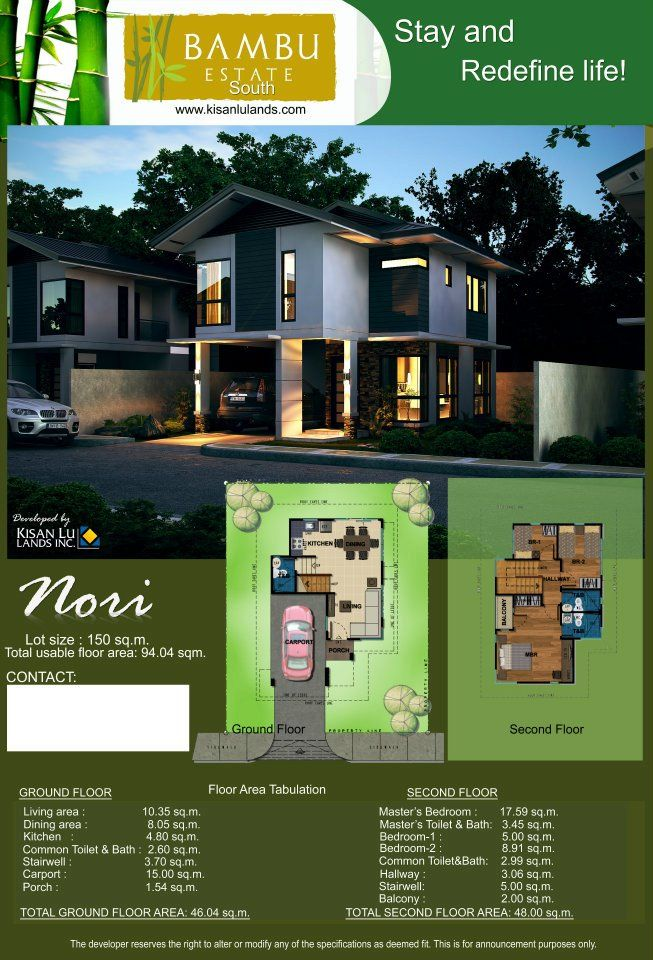Pin By Tony Chau On Bambu Philippines House Design My House Plans Small House Design