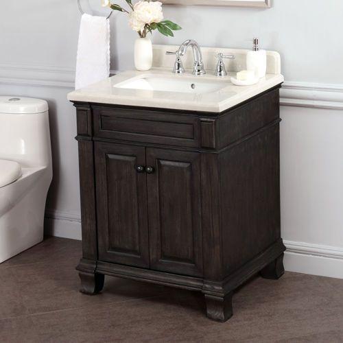 Kingsley 28 Single Sink Vanity With Alpine Mist Countertop