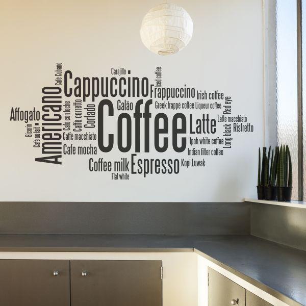 Vinilos decorativos con textos de caf muy til para for Vinilos decorativos textos