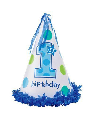Boy 1st Birthday Cone Hat