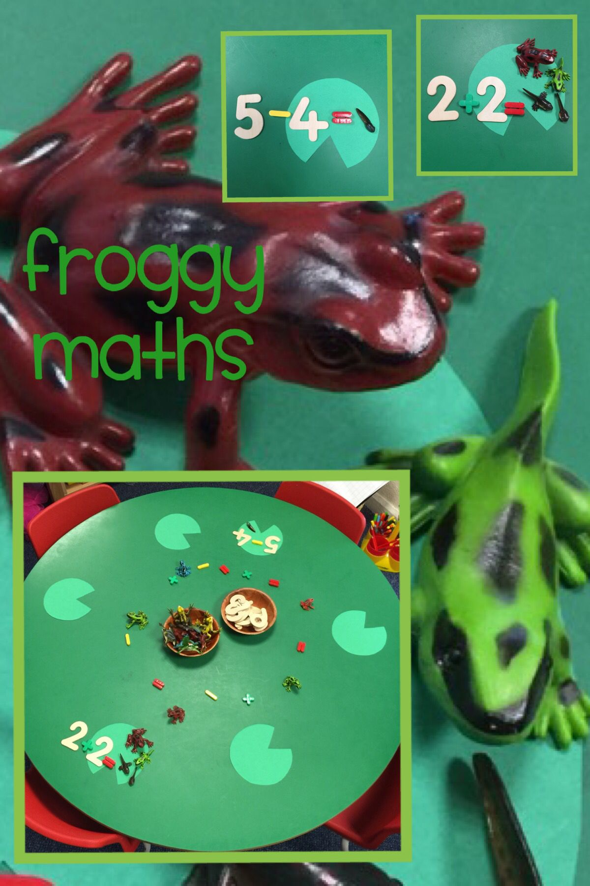 Froggy Maths Adult Led Activity Using Frogs For Adding