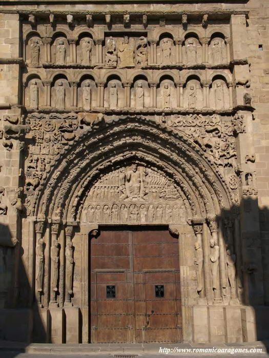 Iglesia De Santa María La Mayor Sangüesa Navarra Catedral Gotica Arquitectura Antigua Monumentos