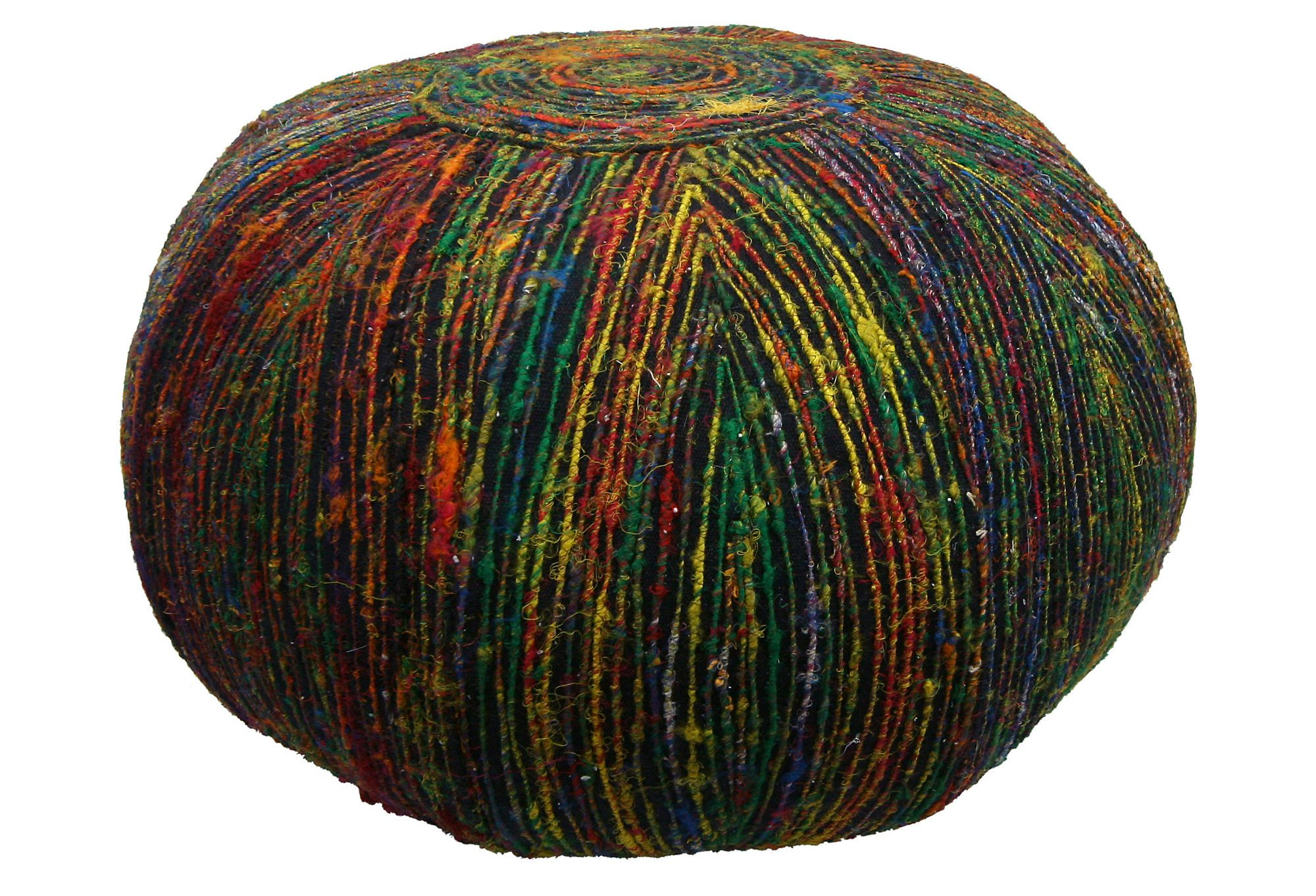 One Kings Lane - Exotic Winter Escape - Nina Recycled Silk Pouf ...