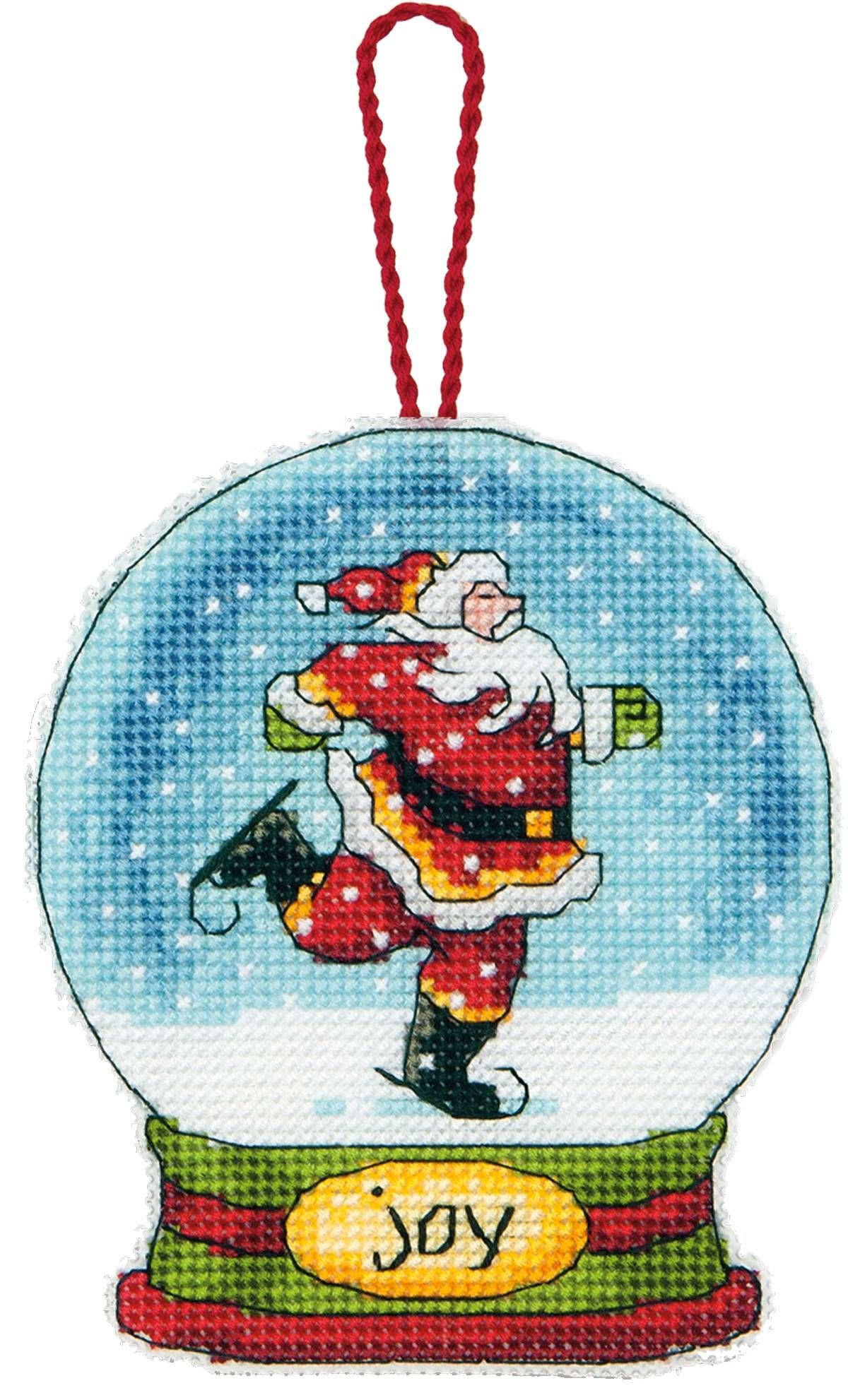 Joy Snow Globe Cross Stitch Ornament Kit Cross stitch