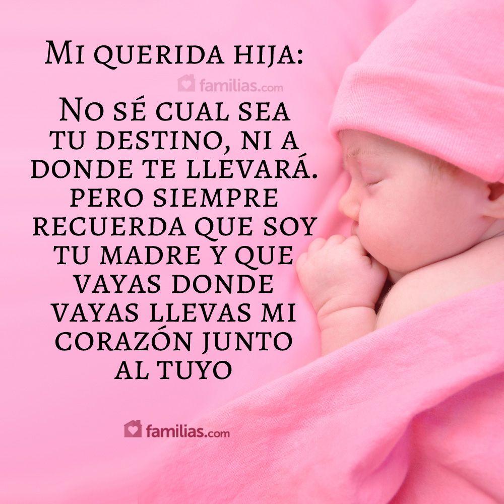 Mi querida hija siempre llevarás mi coraz³n junto al tuyo