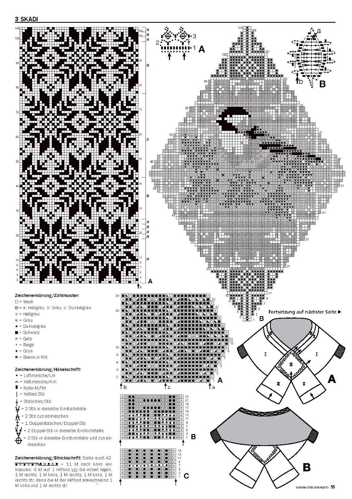 Poncho y manopla | Tejidos a dos agujas con dibujos | Pinterest ...