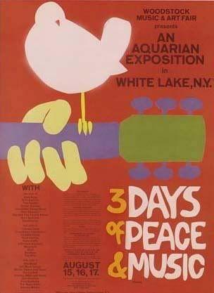 Poster Woodstock Music and Art Fair