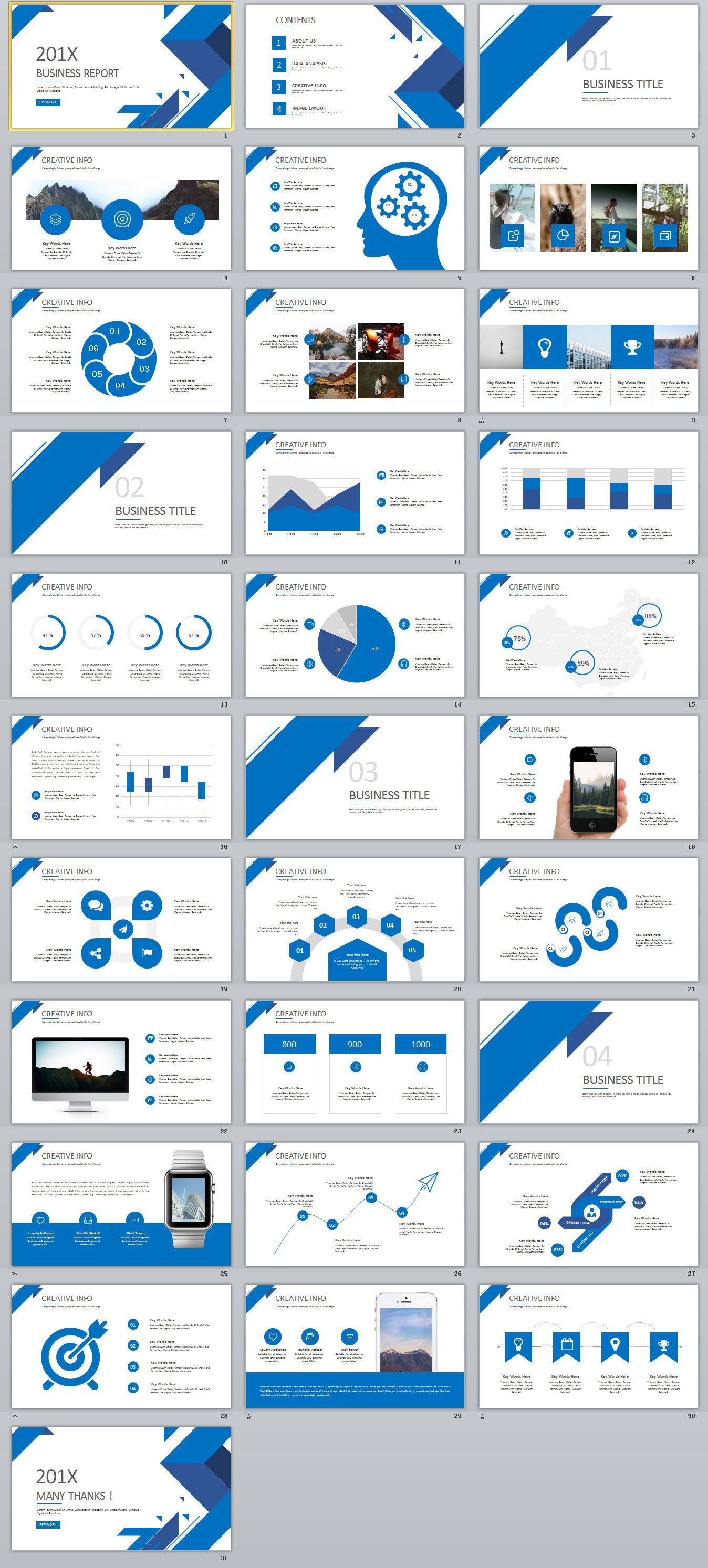 31 best blue business report powerpoint template powerpoint 31 best blue business report powerpoint template powerpoint templates presentation animation accmission Image collections